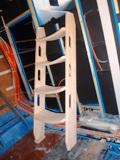 neue Treppe im Salon